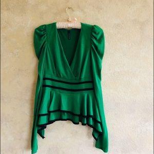 Tops - Double Zero Brand Green Swirl Top